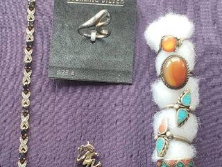 925 Silver Sterling Rings  Pendant and Bracelet
