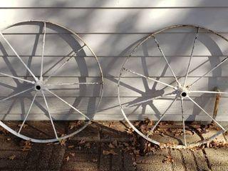 Pair Of Iron Wheels   32 in  Diameter