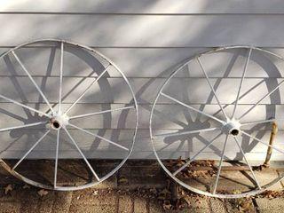 Pair Of Steel Wheels   30 in  diameter