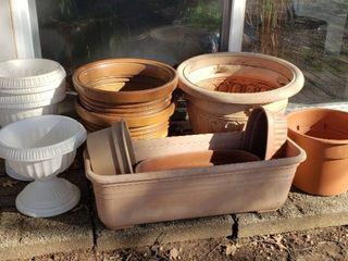 Plastic Planters   White Urn Type   Terra Cotta Color Type   Various Styles and Sizes