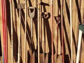 long Handle Yard Tools   Hoes  Scrapers  Short Handle Shovels  and Rake