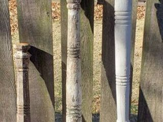 3 Vintage White Columns   40 to 72 in  tall