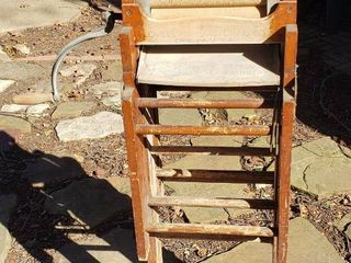 Antique Anchor Brand Folding Bench Clothes Wringer   15 x 11 x 47 in   Folded up