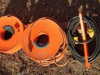 2 Heavy Duty Extension Cords w Holders