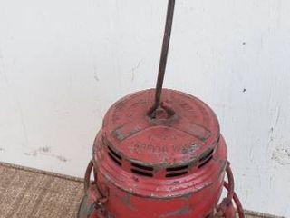 Embury No  40 Traffic Card RR lantern w  Red Globe