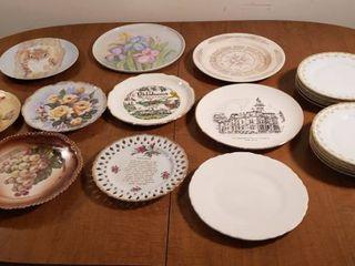 Hand Painted Dinner Plates  Souvenir Plates  and Set of 8 Bavaria Tirchenreuth Richmond 3753 Plates