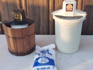 2 Electric Ice Cream Makers   RCW and Rival  both work and Ice Cream salt
