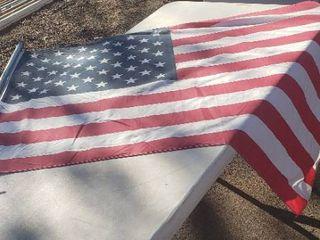 U S Flag   3 x 5ft  w 8 ft  pole   Hanger