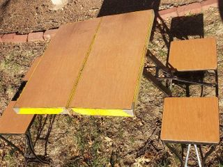 Fold up Picnic Table   Closed  33 x 13 x 4 in