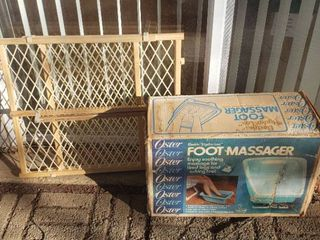 Oster Foot Massager and Even Flo Home Safety Gate