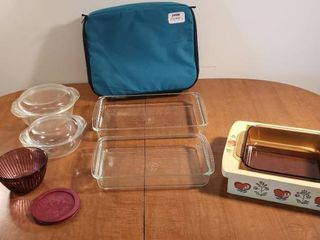 Pyrex Cookware and One Carrying Case