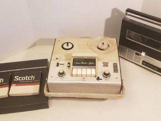 2 Panasonic Reel to Reel Tape Recorders   Both Power On