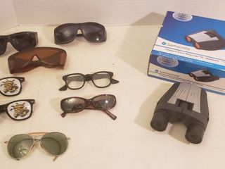 Samsonite Compact Zoom Binocular 10 30x25mm and Sunglasses   Vintage Glasses