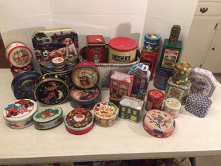 Holiday   Decor Tins   Tub   various sizes