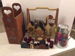 Custom Wood Storage Caddies  Apple Napkin Rings    Decor