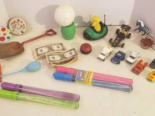 Assorted Toys   some vintage   some new
