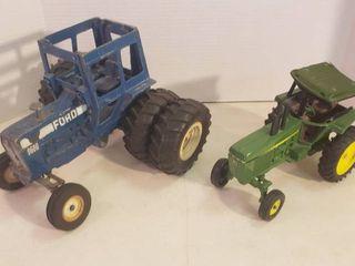 Die Cast Farm Tractors   Ertl Ford 9600 and John Deere  broken