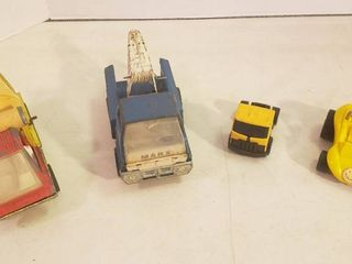 Vintage Toy Trucks and Dune Buggy   Hubley  Marx  Buddy l and Bandar