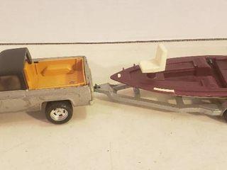 Ertl Chevrolet Pick Up Truck w Ranger Fishing Boat  missing boat motor    Trailer