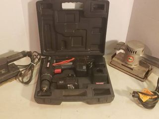 Craftsman 14 4V Cordless Drill W  Charger   Batteries  B D Sheet Sander and B D Finishing Sander   all work