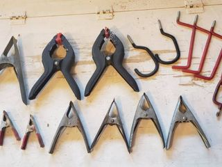 Clamps and Wall Hooks