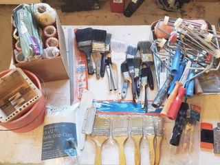 Painting Tools   Rollers and Brushes W Tote