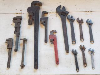 Pipe Wrenches and Adjustable Open End Wrenches