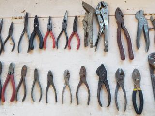Various Pliers  Wire Cutters and Vise Grips