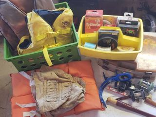 Fishing Gear and life Jackets