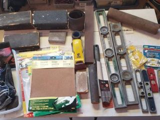 levels and Sanding Tools   Paper