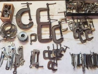 C clamps  Hose Clamps  Church Keys  and other Metal tools
