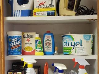 Household Cleaners   laundry and Oreck Iron   GE Iron