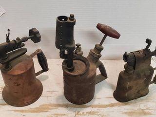 3 Vintage Brazing Torches