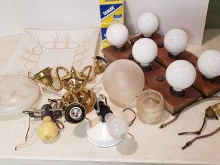 light Fixtures  Globes and light Bulbs