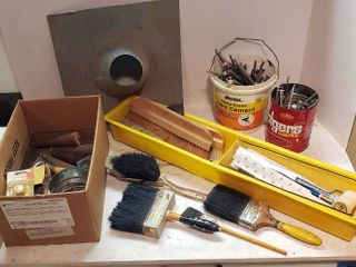 Home Maintenance Items   painting  gutter nails  furniture legs  roofing flange and Wallpaper tools