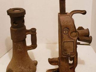 Vintage Bottle Jack and Simplex 85 A Jack