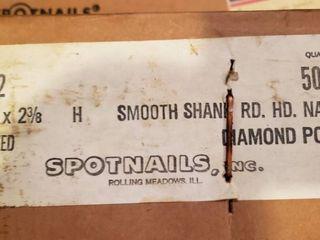 2 Boxes of Spotnails   Smooth Shank Rd  HD  Nails 5000 per box