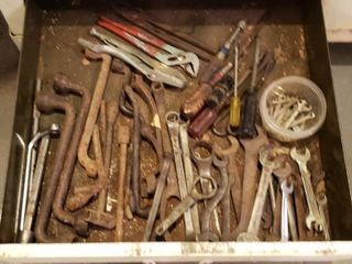 Assorted Tools   Bring boxes  drawer not included