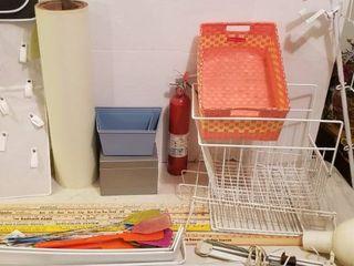 Behind the Door Shoe Rack  Metal Bun   Racks  Yardsticks  Office lamp  Fire Extinguisher  Fly Swatters