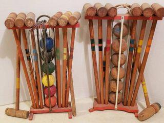 2 Vintage Croquet Sets