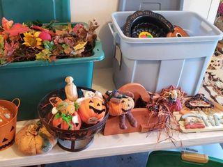Halloween   Fall Decor   3 Totes Included