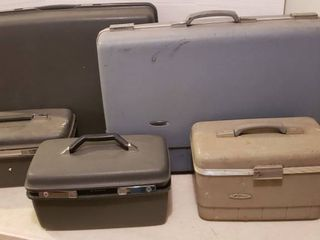 6 Pieces of Hard Side luggage   3 Samsonite and 3 Forecast