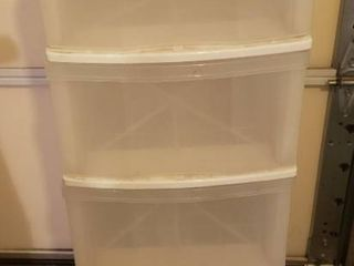 Plastic Gracious living 5 Drawer Storage Chest on Casters   13 x 16 5 x 42 in  tall