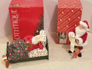 2 Clothtique Santas    713788 All Twinkled Out and  800566 Making the list
