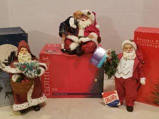 3 Clothtique Santas    15007 Father Christmas   713316 Merry Kissmas and  713122 A Special Treat