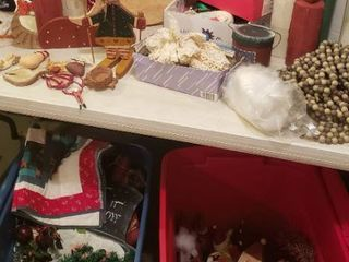 Christmas Decorations   includes 2 Totes