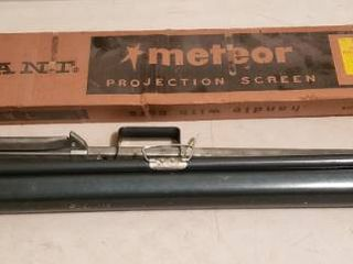 Vintage Radiant Meteor Projection Screen
