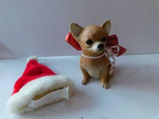 Christmas Ceramic Dog