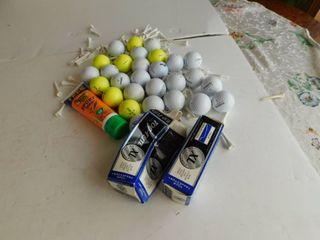Assortment of Golf Balls  etc
