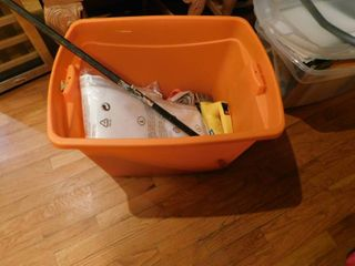 Tote of Garage Items